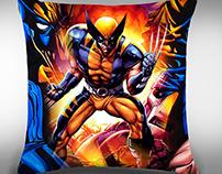 Art PrintCojín Wolverine
