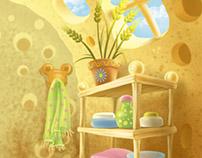 "Children's educational games backgrounds. For ""Ranok"""