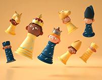 Patata Chess Set