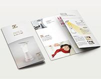 Crosscarf |【旅人時光反射式LED檯燈】Tri-Fold Brochures