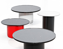 3D MODEL Button Tables set by B&B Italia