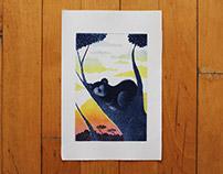 Color etching - Koala