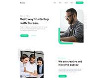Bureau - Startup Landing Page