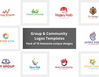 Community & group logo template pack of 10