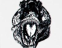 Tyrannosaur Portrait Grunge
