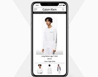 Calvin Klein Site Redesign