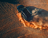 Action and dust with Audi Quattro
