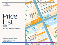 Price-list design for coworking place