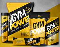 Realistic Mockup Pack - Gym Power Bodybuilding