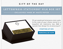 Email - Gift of the Day Campaign | finestationery.com