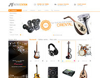 InstruStation e-commerce Web design