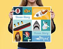 [海洋故事Ocean Story] Vector illustration