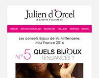 Emailing responsive Bijoutier Julien d'Orcel