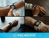 5 Apple Watch Mockups | Freebie