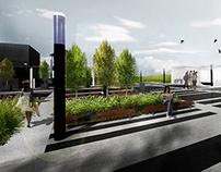 Design of Etele Square, visualization design - summer