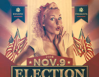 Election After Party Flyer Template