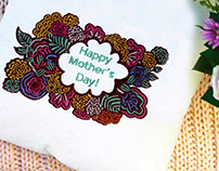 CREATIVELY DESIGNED HAPPY MOTHERS DAY EMBROIDERY DESIGN