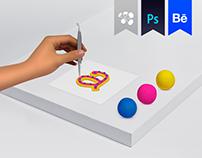 Alfabeto modelado en plastilina-Campaña interna Redcol