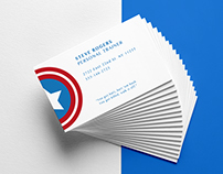 Superhero Business Cards