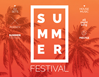 Summer Festival Flyer | PSD Template