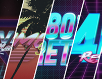 80s VHS Logo Title Intro Pack, After effects Templates