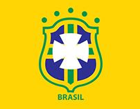 Escudos de Futebol Minimalistas - Clubes Brasileiros