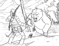 Rise of the Tomb Raider - Coloring book contest entry