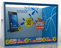 Telenor 3G promotional display