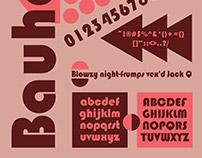 Bauhaus Font Specimen Poster
