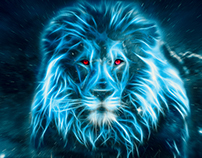 Blue Lion, Big Blue Cat in Space