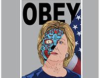 OBEY Digital Illustration (Hillary Clinton)