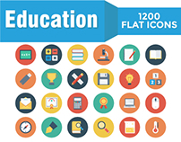 1200 Education Icons Bundle