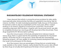 Cardiology personal statement