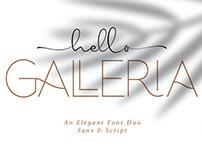 HELLO GALLERIA - FREE FONT DUO