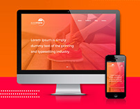 Energy drink brand and website landing page