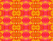 Pattern, yellow and fuchsia, basis