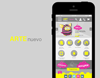 Creating a mobile version of the site artenuevo.ru
