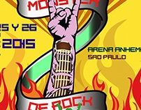 Cartel Fan Monster Of Rock - Sao Paulo