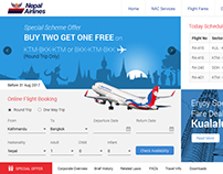 Web design for airlines
