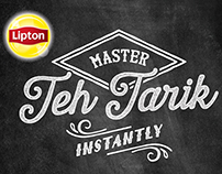 Lipton 'Master The Art Of Teh Tarik' (pulled tea)