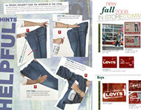 Magazine Spread Design for Levi's