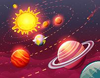 Solar Background Design