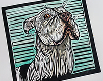 Pet Portrait Linocuts