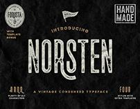 Norsten Vintage Condensed Sans Typeface
