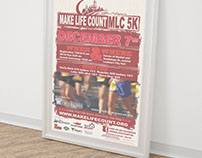 Poster Design: MLC Make Life Count 5k (Event)