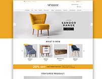 Website Design for Venoor Furniture