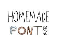 Homemade fonts
