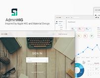 AdminHIG - PSD admin kit template
