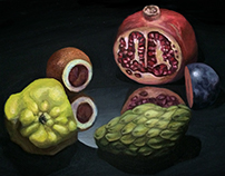Still Life with Halved Fruit