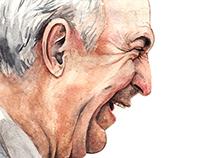 Happy man portrait - Watercolors